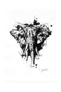 Inked Elephant by James Grey