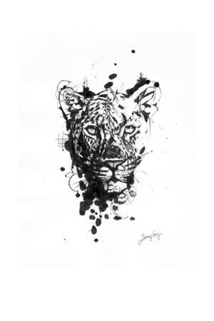 Inked Leopard by James Grey