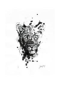 Inked Leopard by James Grey