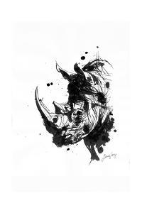 Inked Rhino by James Grey