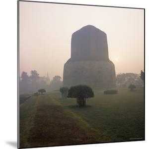 Dhamekh Stupa, Buddhist Pilgrimage Site, Sarnath, Near Varanasi, Uttar Pradesh State, India, Asia by James Gritz