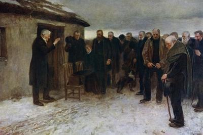 A Highland Funeral, 1882 by James Guthrie