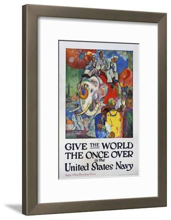 Give the World the Once over in the United States Navy Poster