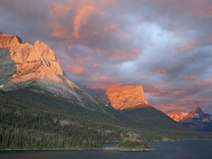 Coulds at Dawn, St. Mary Lake, Glacier National Park, Montana by James Hager