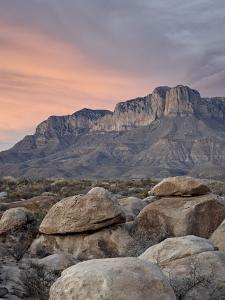 Guadalupe Peak and El Capitan at Sunset, Guadalupe Mountains National Park, Texas, USA by James Hager