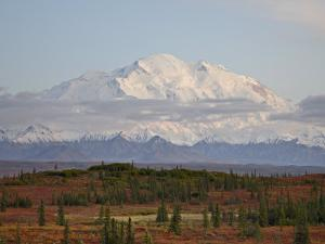 Mount Mckinley (Mount Denali) at Sunset in Fall, Denali National Park and Preserve, Alaska by James Hager