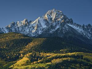 Mount Sneffels with Snow in the Fall by James Hager