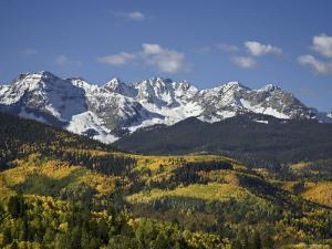 Sneffels Range with Fall Colors, Near Ouray, Colorado, United States of America, North America by James Hager
