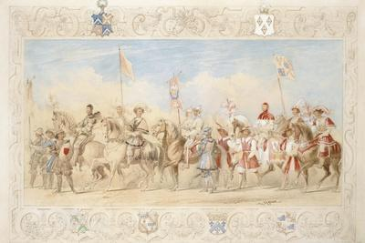 Walter Little Gilmour Esq., the Black Knight and Hon. Edward Stafford Jerningham, Knight of the…