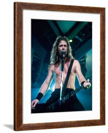 James Hetfield, Lead Singer of Metallica, Performing-Kevin Winter-Framed Premium Photographic Print