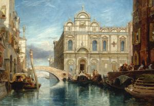 Scuola di San Marco, Venice, 1860 by James Holland