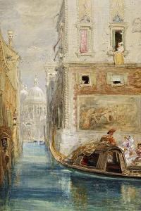 The Gondola, Venice, with Santa Maria Della Salute in the Distance, 1865 by James Holland