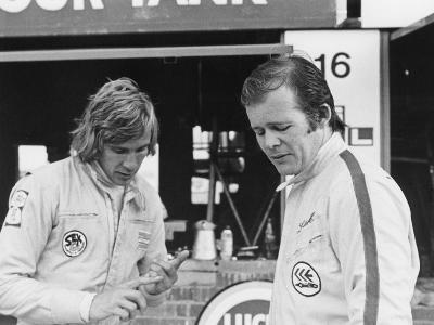 James Hunt with Charles Lucas, C1970--Photographic Print