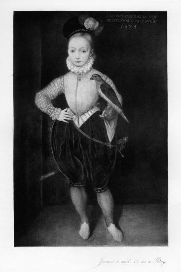 James I as a Boy--Giclee Print