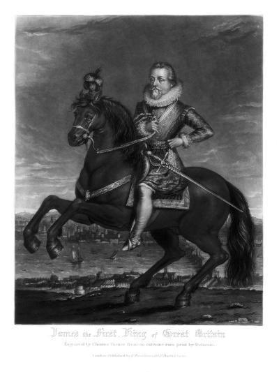 James I, King of Great Britain, 1816-Charles Turner-Giclee Print