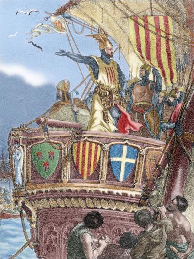 James I the Conqueror (1208-1276). Count of Barcelona and King of Aragon (1213-1276), Valencia…--Giclee Print