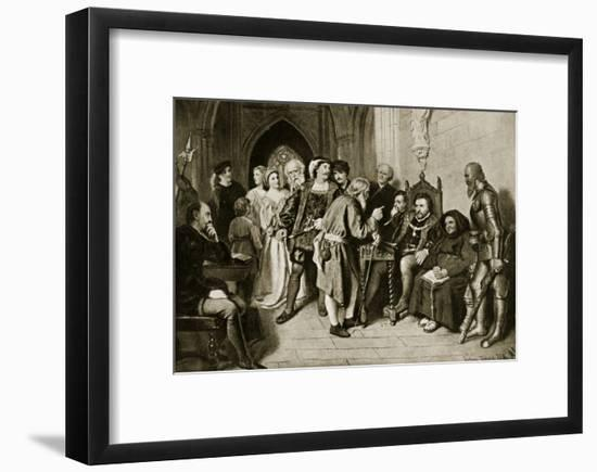 James Iv in Council before the Battle of Flodden, 1513-John Faed-Framed Giclee Print