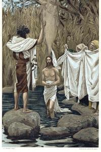 Baptism of Jesus by John the Baptist, C1890 by James Jacques Joseph Tissot