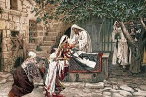 Christ Raising the Daughter of Jairus, Governor of the Synagogue, from the Dead, 1897 by James Jacques Joseph Tissot