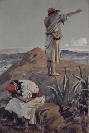 Elijah from Mount Carmel Sees a Cloud Afar Off