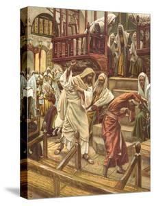 Jesus Heals a Man Possessed by a Demon in the Synagogue for 'La Vie De Notre Seigneur Jesus-Christ' by James Jacques Joseph Tissot