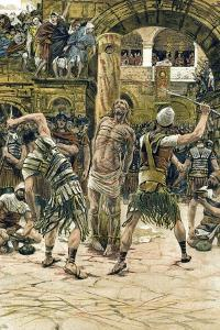 Jesus Scourged on the Face, C1897 by James Jacques Joseph Tissot