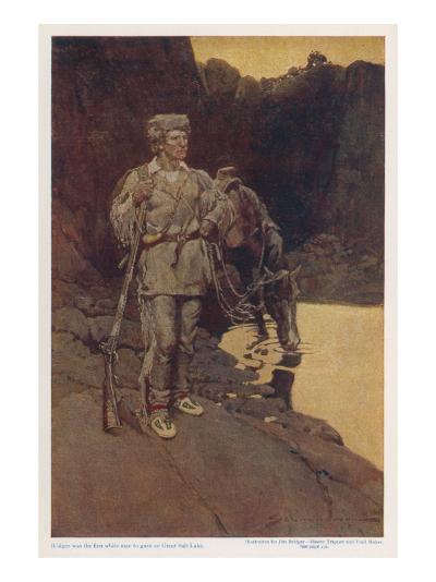 James (Jim) Bridger American Trapper and Trailmaker--Giclee Print