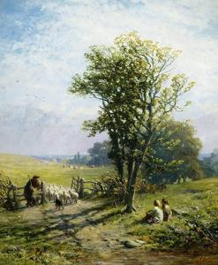 A Beautiful Summer's Day by James John Hill