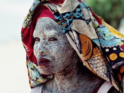 A Woman Wears Ground Bark Cream to Protect Her Face from the Sun by James L. Stanfield