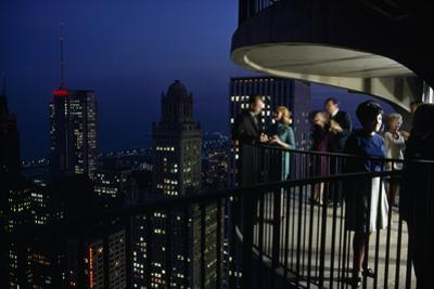 Chicago, Illinois, Fifty-Two Stories High, City Noises Fade and Vistas Expand by James L. Stanfield