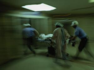 Emergency Medical Staff Rush in a Patient, Maryland Institute for Emergency Medicine by James L. Stanfield