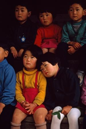 Futagami Jima Island, Japan. Japanese Children Listening Intently at Story Hour in Kindergarten by James L. Stanfield
