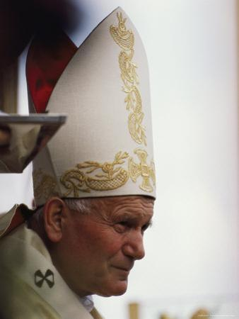 Pope John Paul II is Visibly Moved as He Celebrates Mass in Gdansk in June, 1987 by James L. Stanfield
