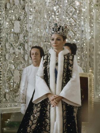 Portrait of Queen Farah Pahlavi Dressed in a Ceremonial Attire, Gulistan Palace, Tehran, Iran