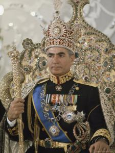Portrait of the Shah of Iran Taken During Coronation Ceremonies, Gulistan Palace, Tehran, Iran by James L. Stanfield