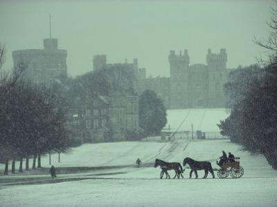 Prince Philip of England Drives a Coach Toward Toward the Long Walk, Windsor Castle, England by James L. Stanfield