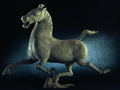 The Han Dynasty Famous Flying Horse of Gansu Sculpture, China