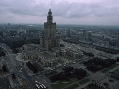 Warsaw's Palace of Culture and Surrounding Cityscape, Poland by James L. Stanfield