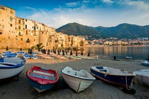 View of the Old Town. Cefalu, Sicily by James Lange