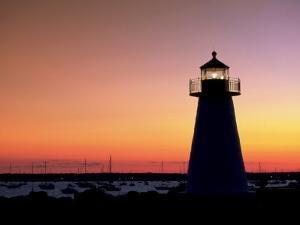 Lighthouse at Sunset, Mattapoisett, MA by James Lemass