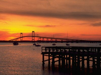 Newport Harbor and Newport Bridge, RI