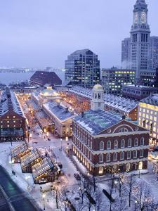 Quincy Market, Faneuil Hall, Boston, MA by James Lemass