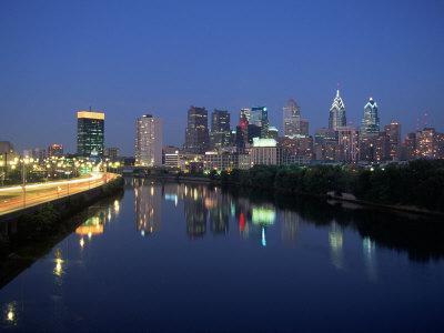 Skyline and Schuykill River, Philadelphia, PA