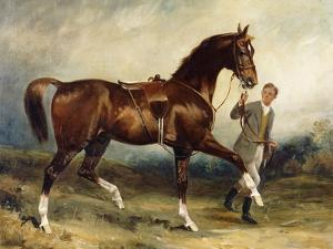 Horse and Groom in a Landscape by James Lynwood Palmer