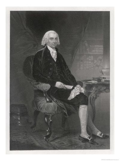 James Madison Fourth President of the United States-Alonzo Chappel-Giclee Print
