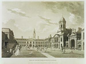 The Great Court Yard, Dublin Castle, 1792 by James Malton