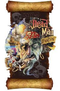Dead Man Partyin Scroll by James Mazzotta