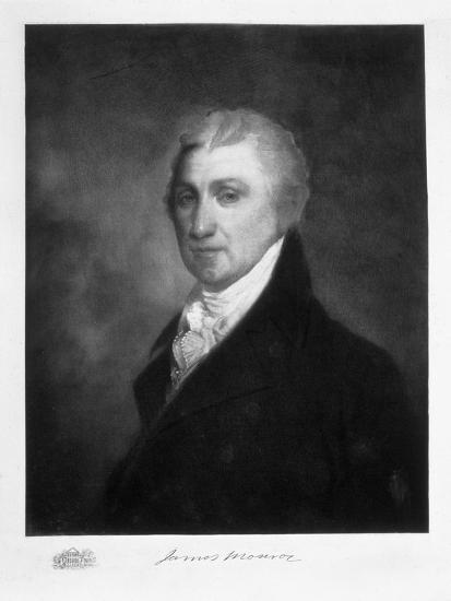 James Monroe, 5th President of the United States of America, (1901)-Unknown-Giclee Print