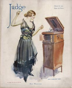 Boy Wanted! a Girl on Her Own Plays Her Phonograph by James Montgomery Flagg