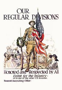 Our Regular Divisions, Enlist for the Infantry by James Montgomery Flagg